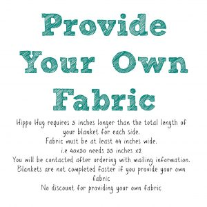 Provide Your Own Fabric