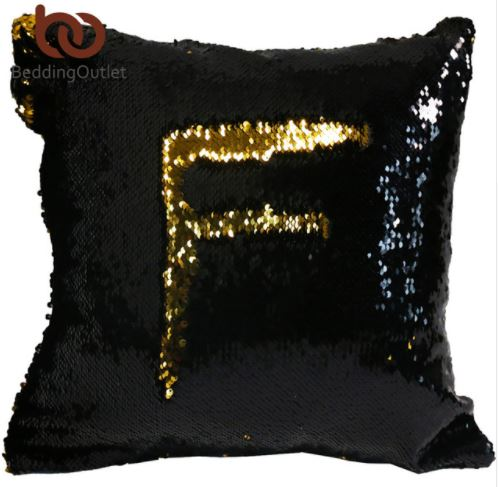 Black-gold pillow