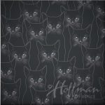 Cotton - Grey Cats - Hippo Hug Weighted Blankets Fabric