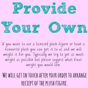 Provide Your Own Plush Weighted Animal