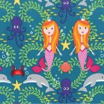 Cotton- Mermaid- Hippo Hug Weighted Blanket