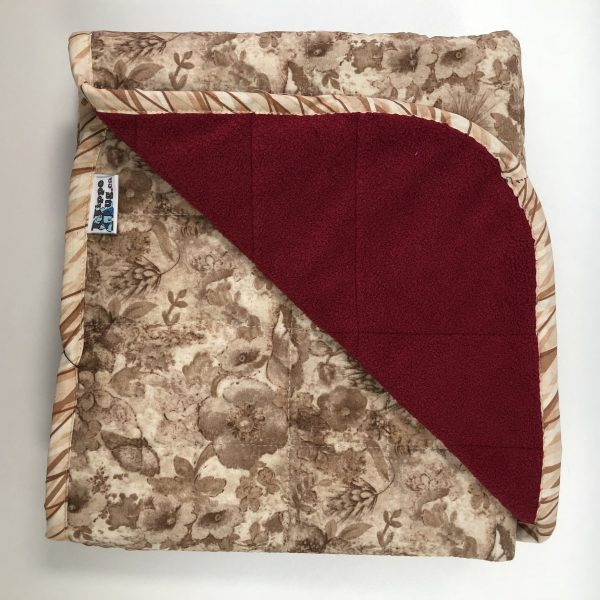 $260 40x50 10 lb Tea and Wine - Cotton Tea Time and Cuddle Burgundy compare at $265
