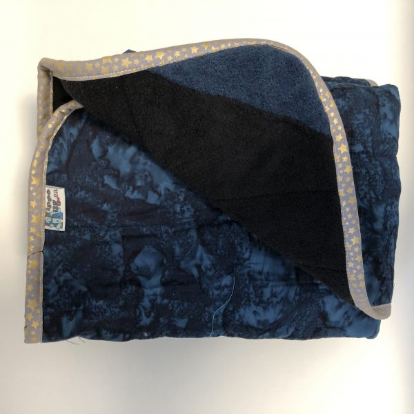 $165 30x40 12lbs Smooth Sailing- Cotton Macaw with Mixed Cuddle back- Hippo Hug Weighted Blanket- Compared at $200 Save $35