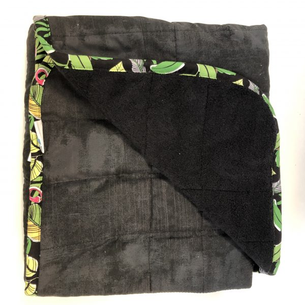 $285 40x50 18lbs Pitch Black- Cotton Onyx with Cuddle Black- Hippo HUg Weighted Blankets- Compared at $310 Save $25