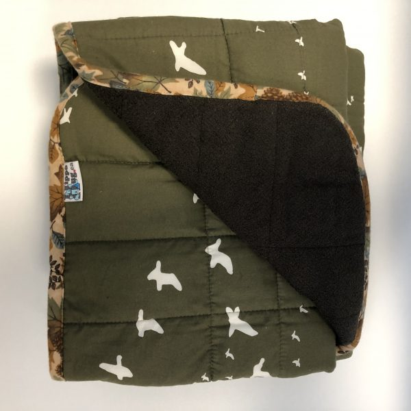 $300 40x60 15lbs Fly Away Home- Organic Cotton Flight with Cuddle Espresso - Hippo Hug Weighted Blankets- Compared at $330 Save $30
