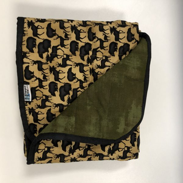 $300 40x60 18lbs Woodlands- Cotton Forrest Animals with Cotton Riffle- Hippo Hug Weighted Blankets- Compared at $325 Save $25