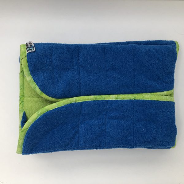 $135 20x50 10lbs Croc- Cuddle Bright Blue With Cuddle Lime- Hippo Hug Weighted Blankets Compared at $170 Save $35