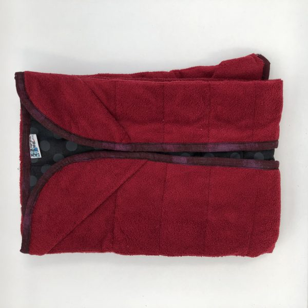 $135 20x50 10lbs Red Dress- Cotton Black Dress with Cuddle Burgundy- Hippo Hug Weighed Blankets- Compared at $165 Save $30