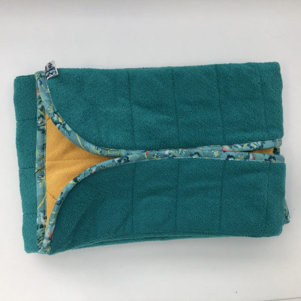 $135 20x50 7.5lbs Lagoon- Cuddle Lagoon with Cuddle Saffron- Hippo Hug Weighted Blankets- Compared at $155 Save $20