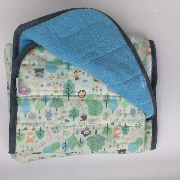 $145 30x40 5lbs Zoo- Cotton Who's in the Zoo with Cuddle Baby Blue- Hippo Hug Weighted Blankets- Compared at $165 Save $20