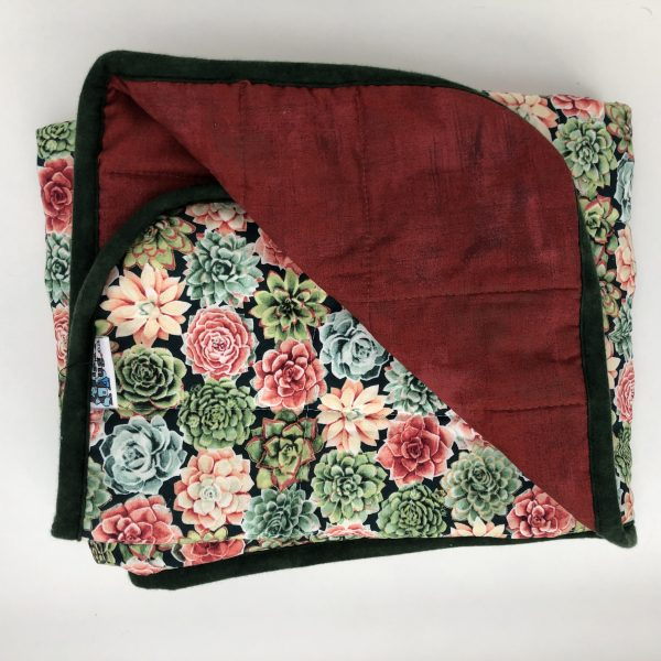 $165 30x40 9lbs Succulents- Cotton Succulents with Cotton Romance- Hippo Hug Weighted Blankets- Compared at $180 Save $15
