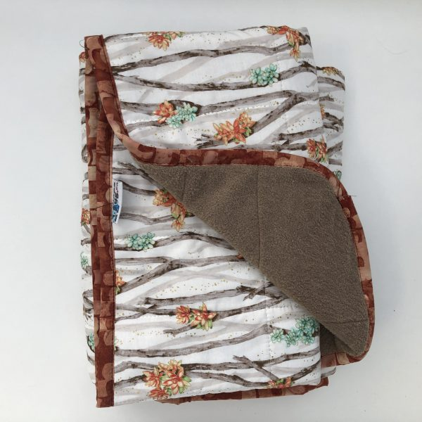 $235 40x50 9 lbs Spring Blossom- Cotton Flowered Woods with Cuddle Mocha- Hippo Hug Weighted Blankets- Compared at $$160 Save $25