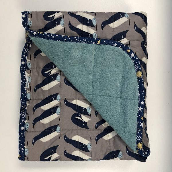 $260 40x50 12lbs Happy Feet- Organic Cotton Happy Feet with Cuddle Tropical Teal- Hippo Hug Weighted Blankets- Compared at $285 Save $25