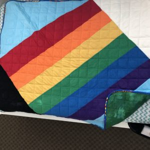 $260 40x50 12lbs Luck of the Irish- Cotton Leprechaun with Mixed Cuddle Rainbow to the pot of Gold- Hippo Hug Weighted Blankets- Compared at $275 Save $15
