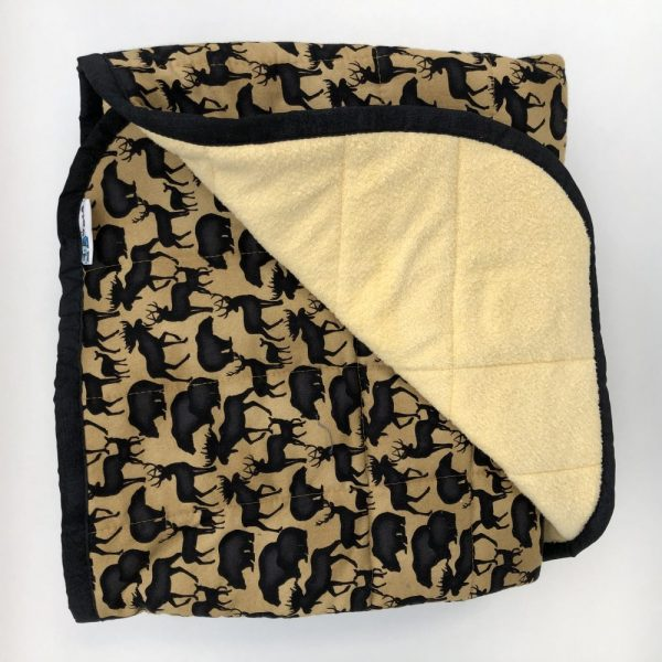 $300 40x60 18lbs Banff Animals- Cotton Forrest Animals with Cuddle Canary Yellow- Hippo Hug Weighted Blankets- Compared at $$330 Save $30
