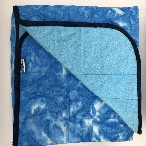 $345 45x70 10lbs Ice Blue- Cotton Azure with Cuddle Baby Blue- Hippo Hug Weighted Blankets- Compared at $370 Save $25