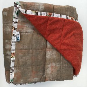 $350 40x70 25lbs Maple Sugar- Cotton Maple Sugar with Cuddle Orange- Hippo Hug Weighted Blankets- Compared at $390 Save $40