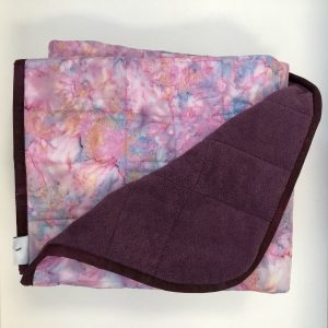 $360 45x70 13lbs Shrimp- Cotton Shrimp with Cuddle Eggplant- Hippo Hug Weighted Blankets- Compared at $380 Save $35