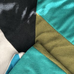 $75 Small Crash Mat- Teal, Black, Grey, and Green- Hippo Hug Weighted Blankets