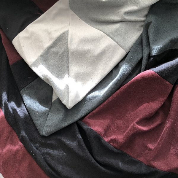 $95 Large Crash Mat- Grey and Burgundy-Hippo Hug Weighted Blankets