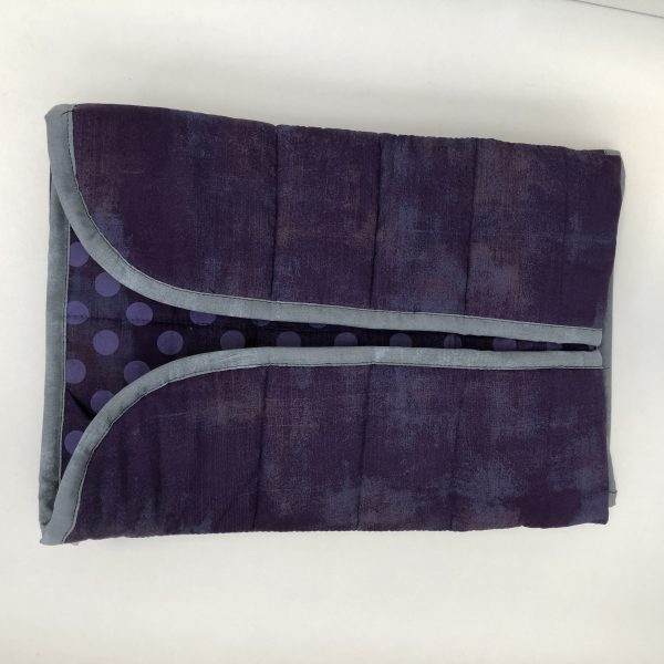 $135 20x50 7lb Eggplant- Cotton Eggplant with Cotton Eggplant Spots- Hippo Hug Weighted Blankets- Compared at $145 Save $10