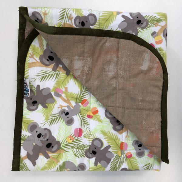 $235 40x50 6.5lbs Koalafied- Flannel Koalas with Cotton Maple Sugar- Hippo Hug Weighted Blankets- Compared at $245 Save $10