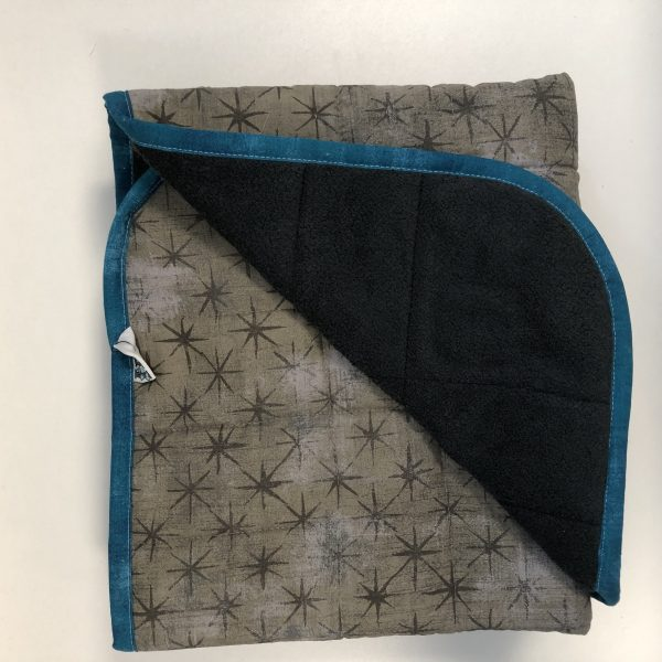 $285 40x50 15.5lbs Spot of Blue- Cotton Seeing Stars Grey with Cuddle Charcoal- Hippo Hug Weighted Blankets- Compared at $300 Save $15