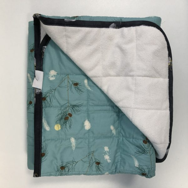 $285 40x50 15lbs Pine- Cotton Pine In the Sky with Cuddle Porcelain- Hippo Hug Weighted Blankets- Compared at $300 Save $15