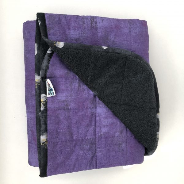 $285 40x60 14lbs Sweet Purple- Cotton Hyacinth with Cuddle Charcoal- Hippo Hug Weighted Blankets- Compared at $315 Save $30