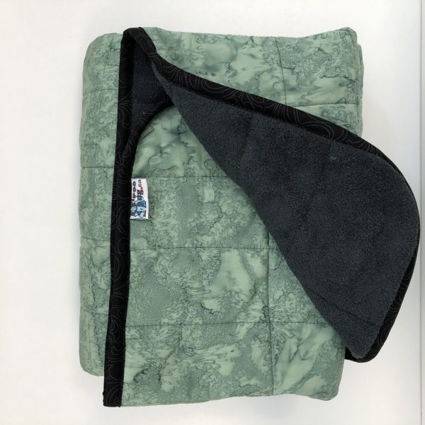 $300 40x60 15lbs Viridian- Cotton Viridian with Cuddle Charcoal- Hippo Hug Weighted Blankets- Compared at $320 Save $20