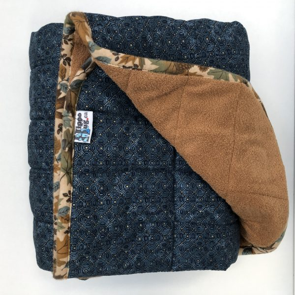 $325 40x60 22lbs Mandalay- Cotton Mandalay with Cuddle Brown- Hippo Hug Weighted Blankets- Compared at $340 Save $15