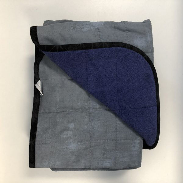 $330 40x70 14lbs Smoke- Cotton Smoke with Cuddle Sweet Purple- Hippo Hug Weighted Blanket- Compared at $355 Save $25