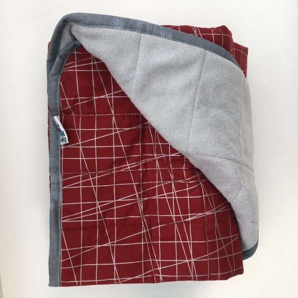 $350 40x70 18lbs Rad- Cotton Silver Lines with Cuddle Pale Grey- Hippo Hug Weighted Blanket- Compared at $370 Save $20