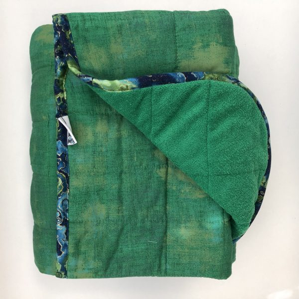 $350 40x70 25lbs Hulk- Cotton Kelly Green with Cuddle Bright Green- Hippo Hug Weighted Blankets- Compared at $390 Save $40