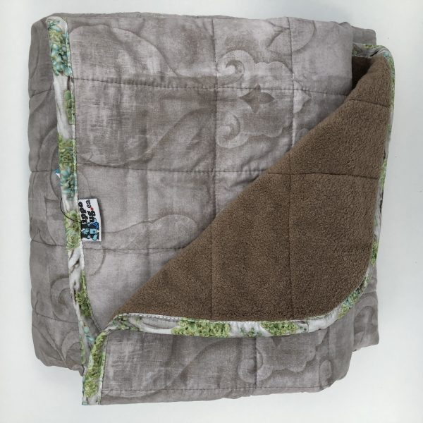 $350 40x70 25lbs Papercut- Cotton Papercut with Cuddle Brown- Hippo Hug Weighted Blankets- Compared at $350 Save $40