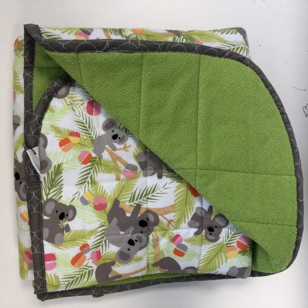 $260 Short Weighted Blanket (40x50 Inches) 12lbs Koala- Flannel Koala Baby with Cuddle Lime- Hippo Hug Weighted Blankets- Compared at $275 Save $15