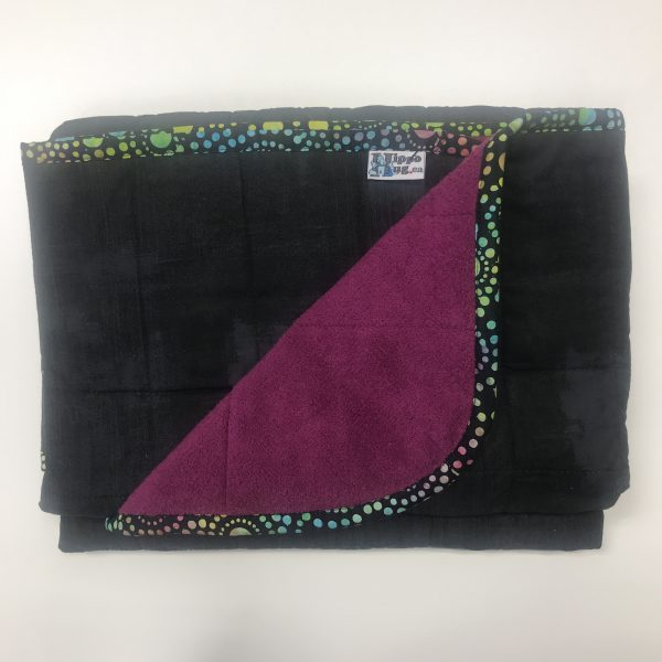 $330 Wide-Twin Weighted Blanket (45x60) 17.5 lbs Fuschia - Black - Cuddle Fuschia - compare to $350 save $20