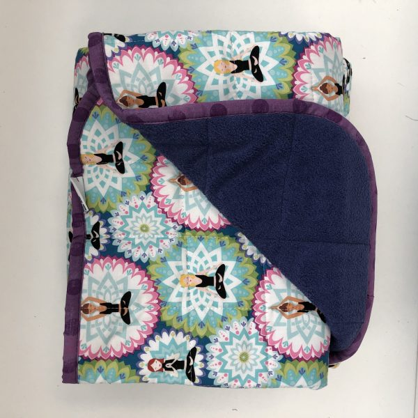 $350 Tall Weighted Blanket - 40x70 18lbs Yoga- Cotton Namaste with Cuddle Eggplant- Hippo Hug Weighted Blankets- Compared at $370 Save $20