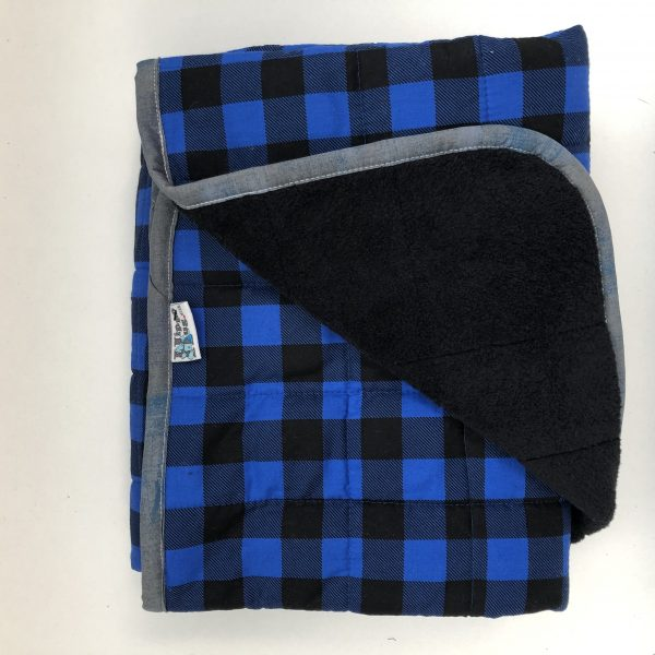 $350 Tall Weighted Blanket - 40x70 22lbs Cross My Heart- Cotton Squares with Cuddle Denim - Hippo Hug Weighted Blankets- Compared at $380 Save $30