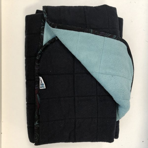 $360 Wide-Tall Weighted Blanket (45x70 Inches) 16lbs Tropical Teal-Flannel Speck with Tropical Teal- Hippo Hug Weighted Blankets- Compared at $395 Save $35