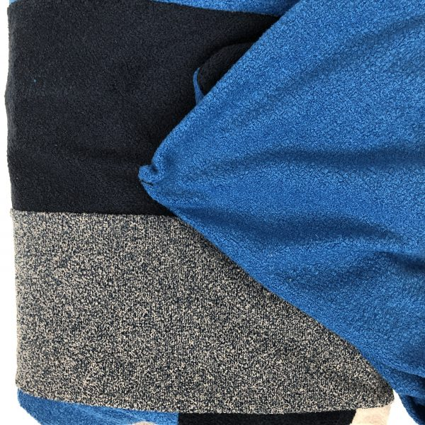$75 Small Hippo Chill Crash Mat Dark Blues- Hippo Hug Weighted Blanket