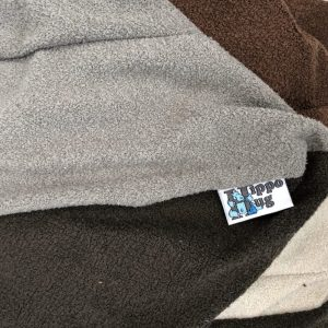 $95 Large Hippo Chill Crash Mat Grey and Brown- Hippo Hug Weighed Blanket