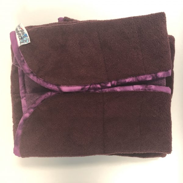 $135 Shoulder_Narrow Weighted Blanket (20x50 Inches) 10.5lbs Fig- Cuddle Burgundy with Cuddle Sweet Purple- Hippo Hug Weighted Blankets Compared at $170 Save $35