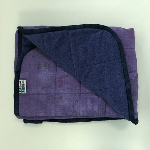 $145 Lap Weighted Blanket (30x40 Inches) 5lbs Purple People Hugger- Cotton Hyacinth with Cuddle Sweet Purple- Hippo Hug Weighted Blankets- Compared at $165 Save $20