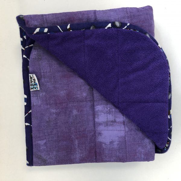 $260 Short Weighted Blanket (40x50 Inches) 9.5lbs Purple Stew- Cotton Hyacinth with Cuddle Bright Purple- Hippo Hug Weighted Blankets- Compared at $265 Save $5