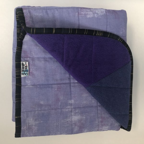 $300 Twin Weighted Blanket (40X60 Inches) 15lbs Purple People Hugger- Cotton Sweet Purple with Mixed Cuddle Purple- Hippo Hug Weighted Blankets- Compared at $320 Save $20