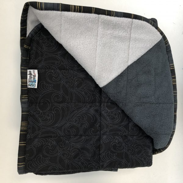 $300 Twin Weighted Blanket (40x60 Inches) 15lbs Grey Scale- Cotton Grey Swirl with Mixed Grey Cuddle- Hippo Hug Weighted Blankets- Compared at $320 Save $20