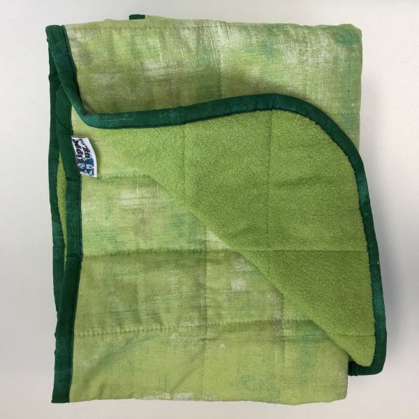 $350 Tall Weighted Blanket (40x70 Inches) 18lbs Grass is Greener- Cotton Key Lime with Cuddle Lime- Hippo Hug Weighted Blanket- Compared at $370 Save $20