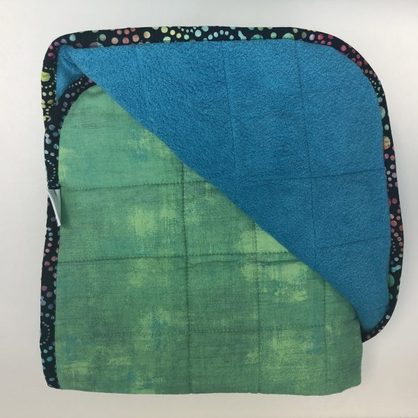 $350 Tall Weighted Blanket (40x70 Inches) 18lbs Jaded- Cotton Jade with Cuddle Turquoise- Hippo Hug Weighted Blankets- Compared at $370 Save $20