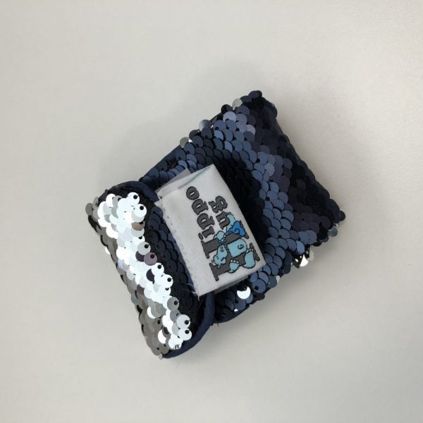 Navy and Silver Sequin Bracelet
